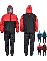 RDX Fitness Capuche Combinaison Sudation Survêtement Minceur Entraînement Sauna Suit Perte De Poids