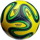 adidas Ball Brazuca Sala Training, Vivid Yellow/Night Blue/Vivid Green/Fair, 4, F82345