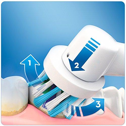 Oral B PRO600 CrossAction   Cepillo de dientes eléctrico recargable con tecnología de Braun  1 mango naranja y 1 cabezal de cepillo de dientes