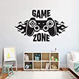 WWYJN Kids Bedroom Wall Decal Sticker Home Decoration Game Zone Gamer Art Decal Mural Poster Blue 52x31cm