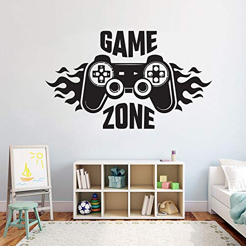 WWYJN Kids Bedroom Wall Decal Sticker Home Decoration Game Zone Gamer Art Decal Mural Poster Gray 71x42cm