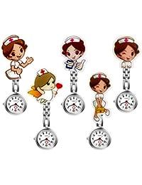 LANCARDO Reloj Médico de Bolsillo Colgante Enfermera Prendedor Broche Movimiento Cuarzo Clip Uniforme Paramédico Regalo Gracias