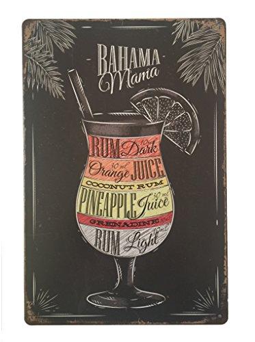 Tin Sign Bahama Mama Placa metálica diseño Retro
