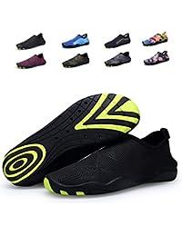 Bdawin Hommes Chaussures d'eau Poids léger Séchage Rapide Sport Aquatique Chaussons Pour Piscine et plage