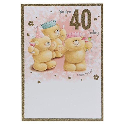 Hallmark Forever Friends 40th Birthday Card 'Cheers To You' - Medium