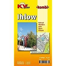 Ihlow: 1:15.000, Gemeindekarte mit 7 Ortsplänen und Freizeitkarte 1:25.000 inkl. Radrouten und Wanderwegen (KVplan Ostfriesland-Region / http://www.kv-plan.de/Ostfriesland.html)