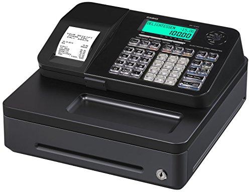 Casio SE-S100SB-BK-FIS GDPdU-fähige Registrierkasse inclusive Softwarelizenz, SD-Card und Batterie Komplettpaket und kostenfreier Hotline, schwarz