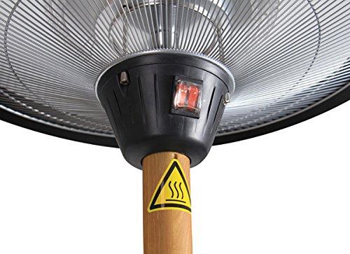 Primrose Firefly 2.100 Watt Infrarot-Heizstrahler (Halogen) Terrassenheizung, freistehend, 3 Leistungsstufen, Eichenoptik - 2