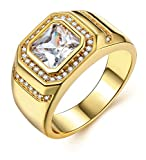 Men Gold Rings 18ct Yellow Gold Plated Men