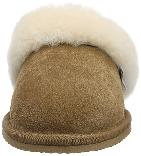SNUGRUGS Mule With Sheepskin Cuff and Rubber Sole, Pantofole Donna Marrone (Brown (Chestnut))