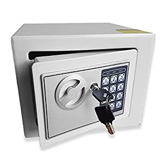 Futura Genuine Large 7 Litre (W23cm x H17cm x D17cm) Electronic Safe, Cash Box, Home Safe, Lock Box, Digital Safe, Steel Security Box, For Office or Home Use, Wall or Floor Mounted