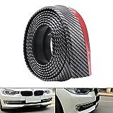 Universal Frontstoßstange Spoiler, Random 8,2 ft/2,5 Mt Anti-Kratz Carbon Front Lipstick Protector für Auto/LKW/SUV (Schwarz)
