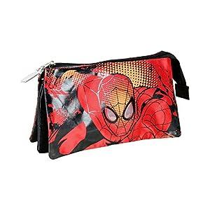 Spiderman – Portatodo con 3 Bolsillos, Color Celeste (Cerdá 2100000539)