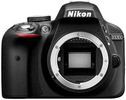 Nikon D3300 SLR-Digitalkamera (24 Megapixel, 7,6 cm (3 Zoll) TFT-LCD-Display, Live View, Full-HD) nur Gehäuse