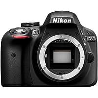 "Nikon D3300 - Cámara réflex digital de 24.2 Mp (pantalla LCD de 3"", grabación de vídeo Full HD), color negro [Versión EU]"