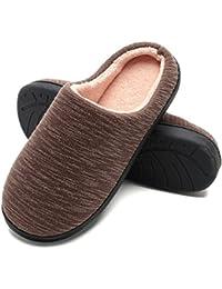 Amazon.it  ciabatte antiscivolo - Marrone   Pantofole   Scarpe da ... 76a877ec3b6
