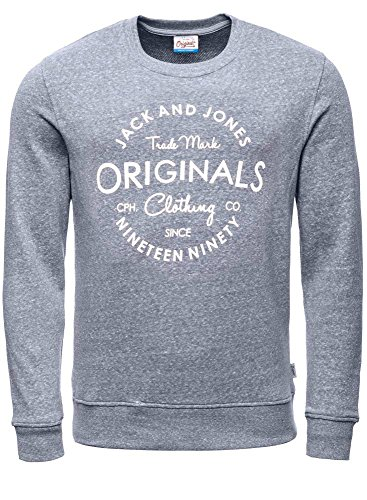 JACK & JONES Herren Sweatshirt Jorbase Sweat Crew Neck