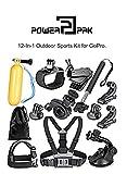 #7: PowerPak 12-In-1 Gopro Accessories Kit for GoPro Hero 6 Hero 5 Hero 4 Hero 3 SJCAM 5000 SJ4000wifi Yashica YAC300
