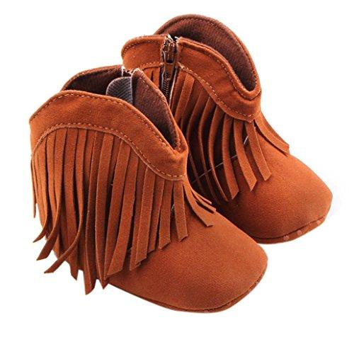 Clode® Kleinkind Baby Mädchen Schuhe Weiche Quaste Schuhe Lässige Schuhe Hoch Stiefel Braun