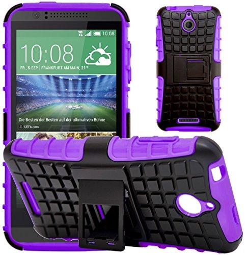 G-Shield Hülle für HTC Desire 510 Stoßfest Schutzhülle mit Ständer - Lila (Desire Armor Slim Case 510 Htc)