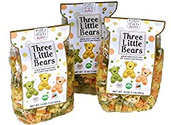 Pasta Gourmet Italia Fun Imported Italian Pasta Shapes For Kids Three Little Bears, , 3 x 17.6 oz / 500g