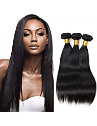 95bf7eac10b3 NEWFB 7A Grade Brésilien Cheveux Vierges Tissage Droit 3 Paquets 100% non  Traitées Remy Extensions