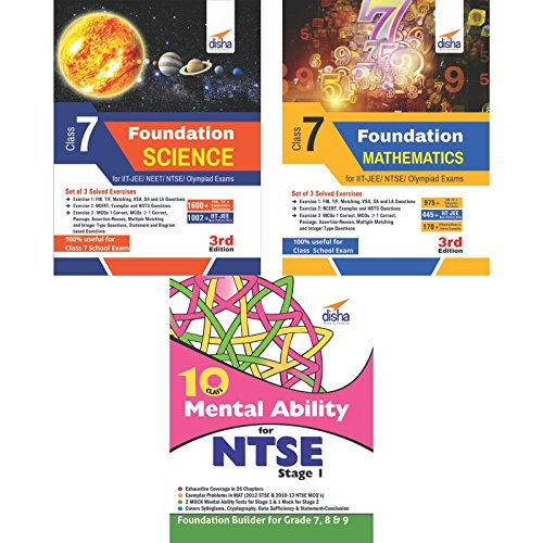 Foundation Science/Mathematics/Mental Ability for IIT-JEE/ NTSE/Olympiad Class 7