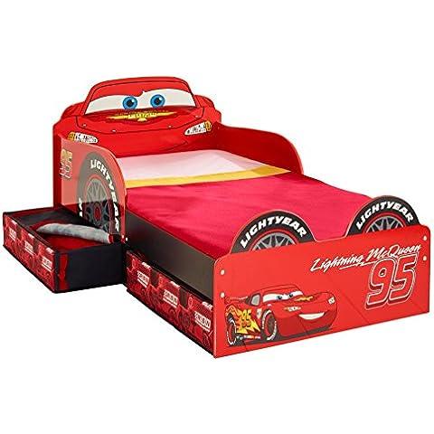 Cars 509CCC - Cama infantil con espacio de almacenamiento debajo de la cama, color rojo