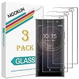 MOOKLIN Sony Xperia XA2 Protector de Pantalla,[3 Piezas] [Anti-Rasguños] [Dureza 9H] [Alta...
