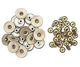 20mm Messing Jeans Knöpfe in Licht Bronzen mit Befestigungs- Hand-werkzeug