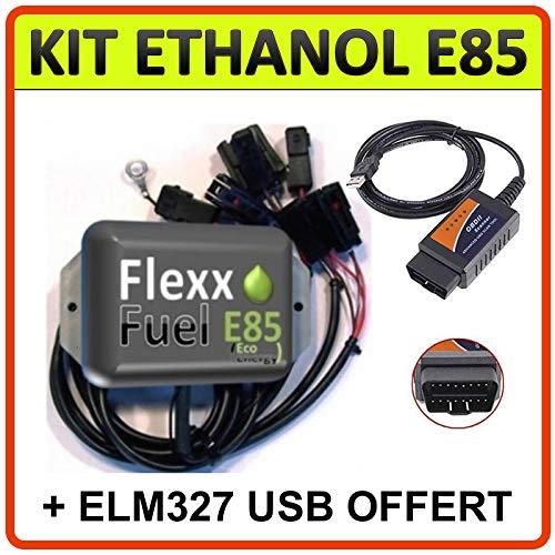 Kit de conversion Ethanol E85 4 cylindres + interface de diagnostic ELM327 USB/Flex Fuel/Economies d'essence (Bosch EV1)