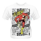 Playlogic International(World) Dc Originals Flash Comic Strip - Camiseta con manga corta para hombre, color white, talla l