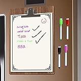 WEY&FLY Magnetisches Whiteboard Kühlschrank, Magnettafel Aufkleber mit 4 Stiften, Notizen, ToDo Listen oder tägliche Termine Wochenplaner für Erwachsene und Kinder, 37x26cm