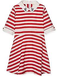 Yumi Nautical Stripe Dress (Red), Vestido para Niños