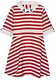 Yumi Girl's Nautical Stripe Dress, Red, 13-14 Years