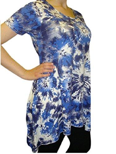 holidaysuitcase Holiday Holiday Suitcase Damen Sexy Sommer Batik Taschentuch He M Top Übergröße 12-26 UK Blau