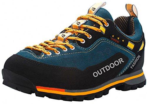Weweya Herren Wanderschuhe High Top Trekking-Schuhe Rutschfeste Atmungsaktive Wanderschuhe Trekking-Sneaker (Herren Grau High-top-schuhe 10)
