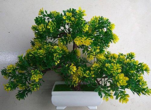 artificial Bonsái Bonsai sintético decorativo Artificial flor de la planta con Potted Decoración tabla sala estar afortunada Feng Shui Decorativa árboles floración , #101