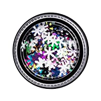 Rocita Snowflake Sequins for Nail Art Decoration Glitter Set Mermaid Laser Sparkly DIY Accessories Christmas Nail Flake Trendy Girl Gifts 5boxes