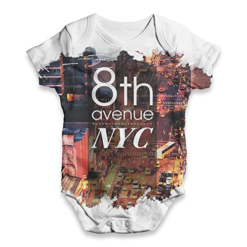 TWISTED ENVY  Baby - Jungen Einteiler Gr. XS , weiß - Big Apple Baby T-shirt
