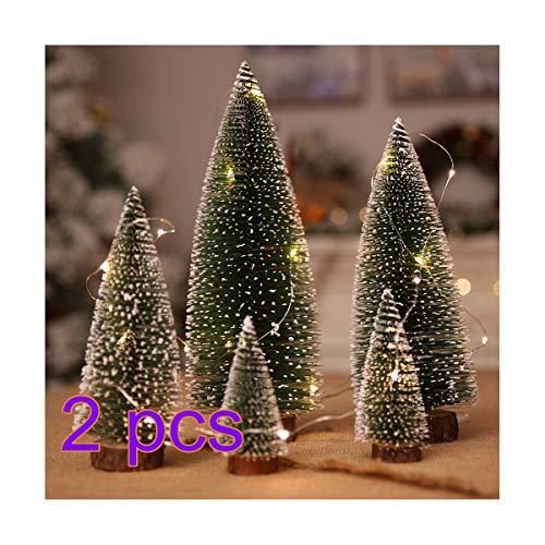 10 Unids Mini Árboles de Navidad Artificiales