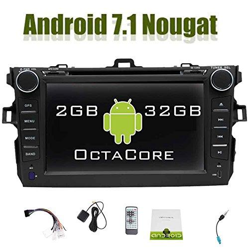 Eincar In Dash Android 7.1 Doppel-DIN-Car DVD-Player für Toyata Corolla 7 '' kapazitives Screen-Autoradio mit GPS Navigation-Steuergerät Unterstützung WiFi OBD2 Spiegel-Link 1080P Bluetooth AM / FM Radio