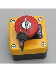 Resistente al agua parada de emergencia pulsador interruptor con llave 660V 10A Normalmente cerrado [Abbott]
