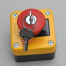 Imperméable avec interrupteur d'arrêt d'urgence Bouton poussoir avec clé 660V 10A normalement fermé [hrus]
