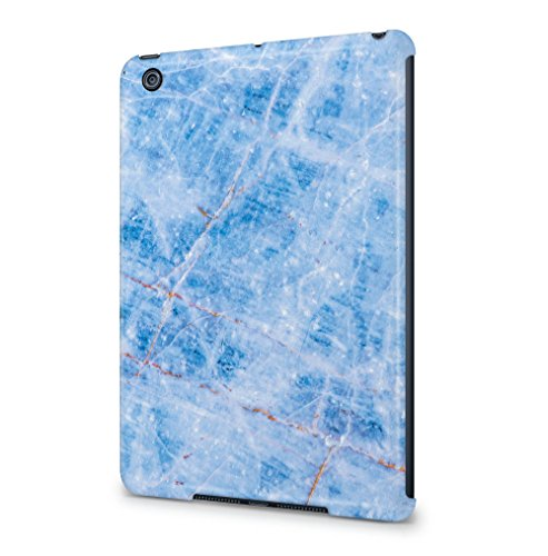 Ice Blue Rough Aquamarine Marble Stone Print Apple iPad Mini 1 SnapOn Hard Plastic Tablet Protective Fall Handyhülle Case Cover (Blue Print Screen)