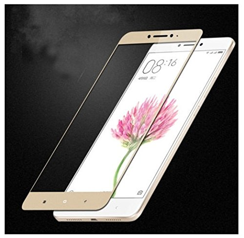 Plus Curved Edge 3D Full Screen Tempered Glass Screen Protector for Xiaomi Mi Max - Gold