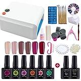 Best Gel Manicure Kits - Coscelia 36W UV LED Gel Nail Polish Nail Review