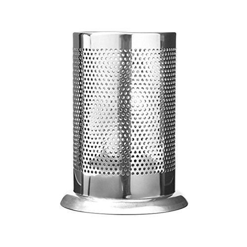 BESTOMZ Porta Utensilios de Cocina de Acero Inoxible Multifuncional para Cuchara Tenedor