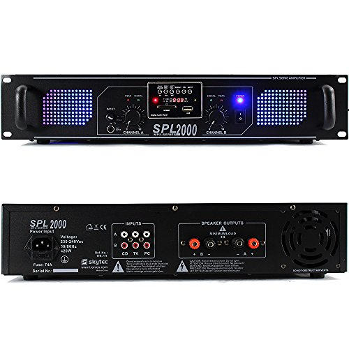 Skytec MP3 USB/SD DJ Disco PA Amplifier 2000W