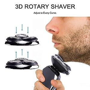 SURKER Men's Electric Shaver Replacement Heads RSCX-9588/RSCX-9598 Razor Rotary Blade Replacement